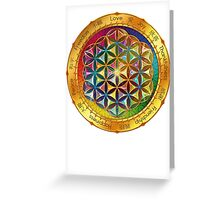 The Flower of Life - dark Greeting Card