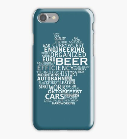 Germany in words (white text) iPhone Case/Skin