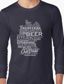 Germany in words (white text) T-Shirt