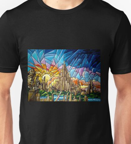 Asgard stained glass style Unisex T-Shirt