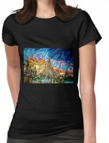 Asgard stained glass style Womens Fitted T-Shirt