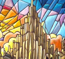 Asgard stained glass style Sticker