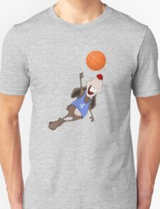 Funny rat with basketball Unisex T-Shirt