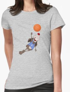 Funny rat with basketball Womens Fitted T-Shirt