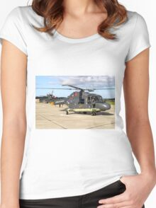 Royal Netherlands Navy Westland SH-14D Lynx Women's Fitted Scoop T-Shirt