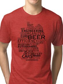 Germany in words (black text) Tri-blend T-Shirt