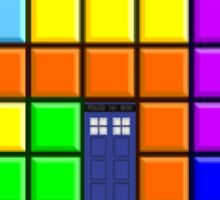 Tardis Tetris Sticker