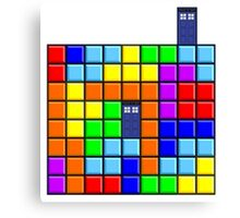 Tardis Tetris Canvas Print