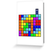 Tardis Tetris Greeting Card