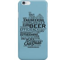 Germany in words (black text) iPhone Case/Skin
