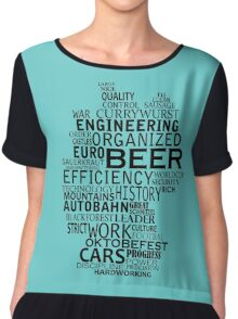 Germany in words (black text) Women's Chiffon Top