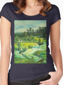 green valley Women's Fitted Scoop T-Shirt