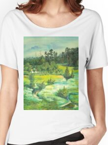 green valley Women's Relaxed Fit T-Shirt