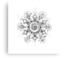 Shiva Eyes Mandala Original Drawing Canvas Print