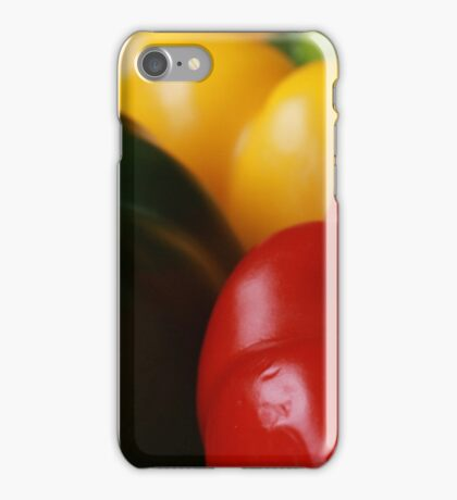 Green, Red and Yellow iPhone Case/Skin