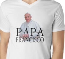 Papa Francisco Pope Francis Mens V-Neck T-Shirt