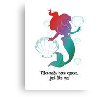 Mermaids Have Curves Canvas Print