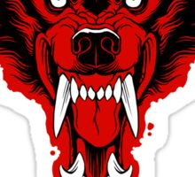 Red Wolf Sticker