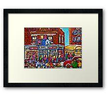 VINTAGE MONTREAL BAGEL SHOP Framed Print