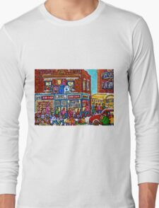 VINTAGE MONTREAL BAGEL SHOP Long Sleeve T-Shirt