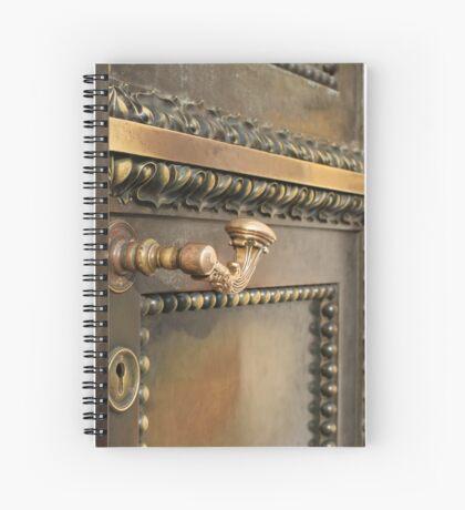 massive ancient  door  Spiral Notebook