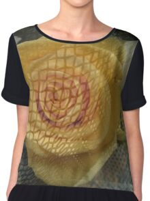 Floral Caged Women's Chiffon Top