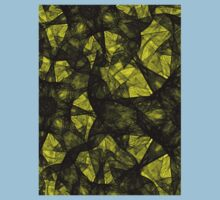 Fractal art black and yellow Baby Tee