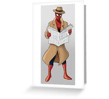 Spyderman Greeting Card