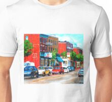 SAINT VIATEUR STREET SUMMER SCENE MONTREAL Unisex T-Shirt