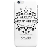 Weasleys' Wizard Wheezes V3 Staff Shirt iPhone Case/Skin