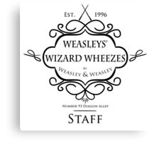 Weasleys' Wizard Wheezes V3 Staff Shirt Canvas Print