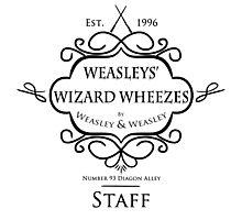 Weasleys' Wizard Wheezes V3 Staff Shirt Photographic Print