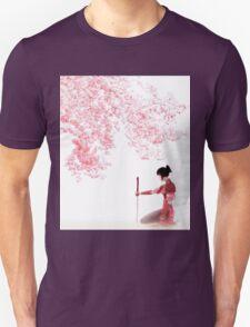 Samurai Girl Landscape Unisex T-Shirt