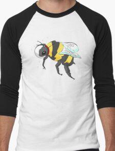 Cosmic Bee in Color Men's Baseball ¾ T-Shirt