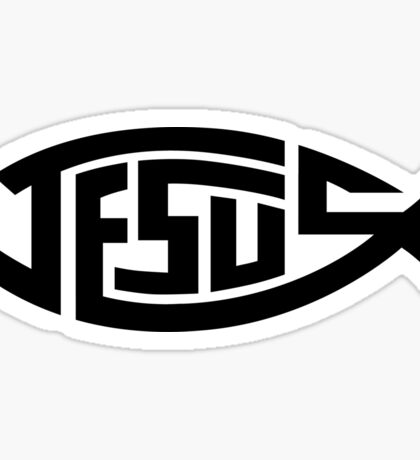 Jesus Fish Ichthys Symbol Sticker