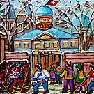 HOCKEY GAME AT MCGILL UNIVERSITY by Carole  Spandau
