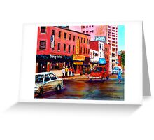 RUE ST. LAURENT MONTREAL Greeting Card