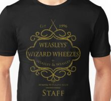Weasleys' Wizard Wheezes V3 Staff (Distressed Gold) Unisex T-Shirt