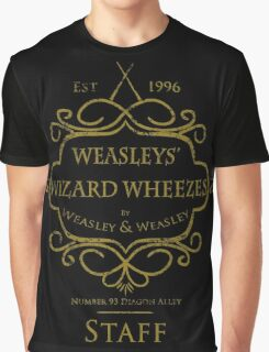 Weasleys' Wizard Wheezes V3 Staff (Distressed Gold) Graphic T-Shirt
