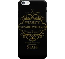 Weasleys' Wizard Wheezes V3 Staff (Distressed Gold) iPhone Case/Skin
