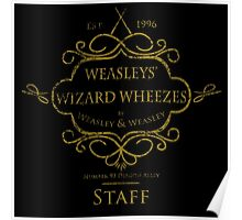 Weasleys' Wizard Wheezes V3 Staff (Distressed Gold) Poster