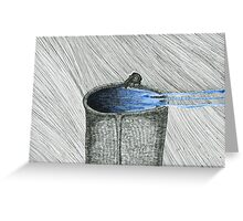 Bird on Thing of Water Greeting Card