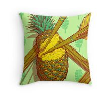 Psychedelic Pineapple Throw Pillow