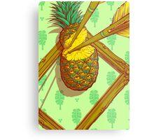 Psychedelic Pineapple Metal Print