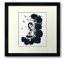Bats and Roses Framed Print