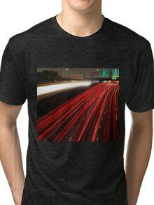 Long Exposure Highway  Tri-blend T-Shirt