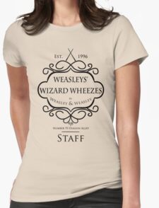 Weasleys' Wizard Wheezes V3 Staff Shirt Womens Fitted T-Shirt