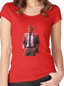 Jose Mourinho is a red #mufc (T-shirt, Phone Case & more) Women's Fitted Scoop T-Shirt