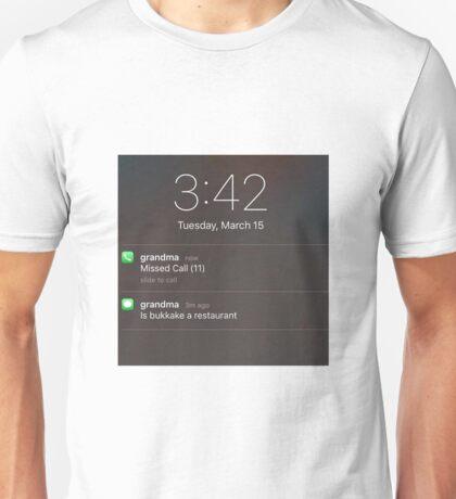 bukkake Unisex T-Shirt