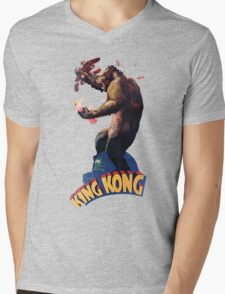 King Kong Retro Mens V-Neck T-Shirt